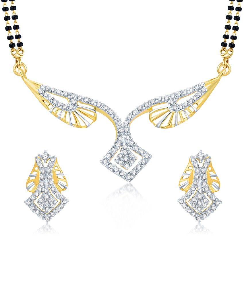 Sukkhi Exquitely Gold and Rhodium Plated Cubic Zirconia Stone Studded Mangalsutra Set (Mangalsutra Mala may vary from the actual image)