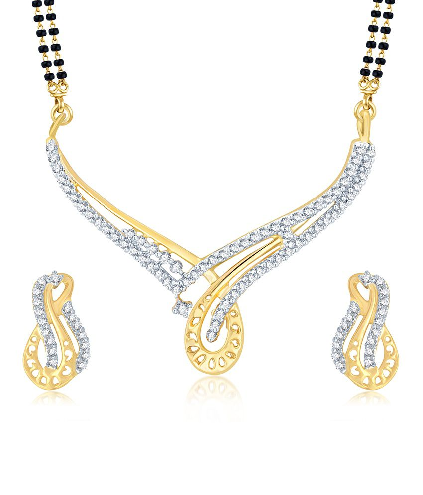 Sukkhi Fabulous Gold and Rhodium Plated Cubic Zirconia Stone Studded Mangalsutra Set (Mangalsutra Mala may vary from the actual image)