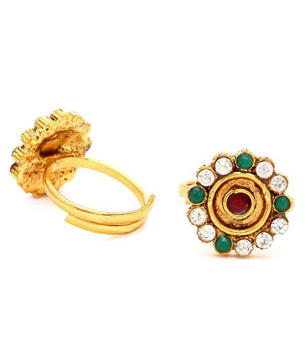Sukkhi Floral Toe-rings