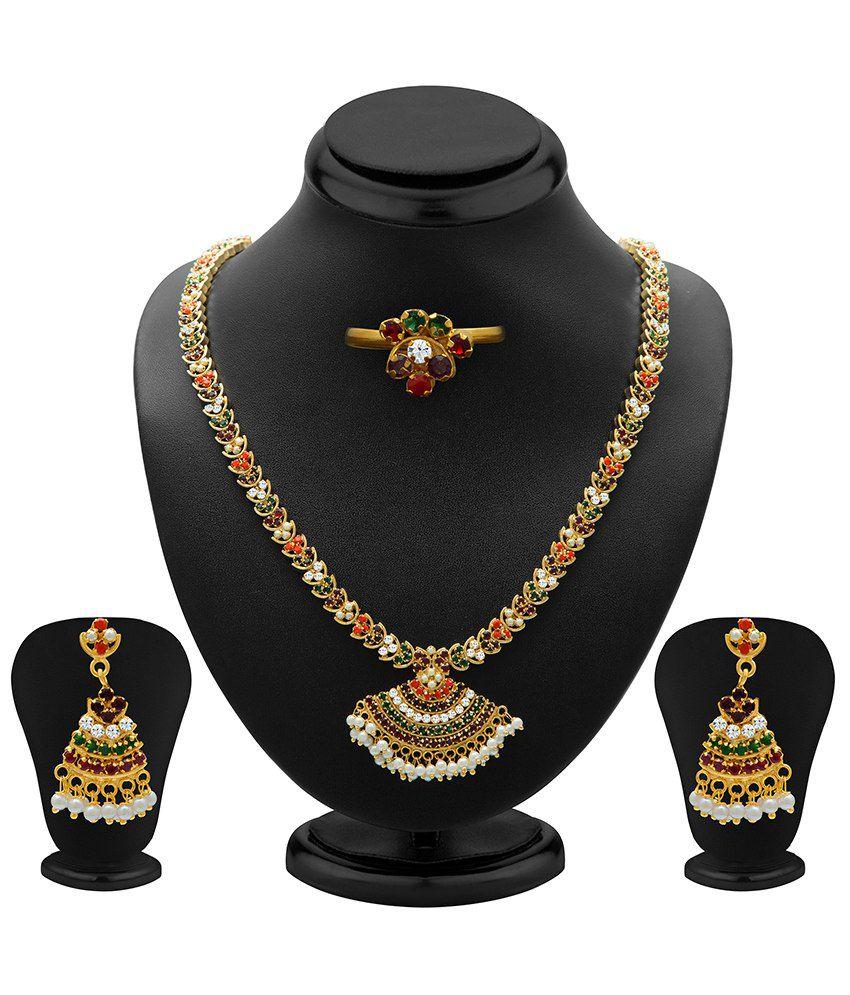 Sukkhi Glamorous Antique Necklace Set With Ring