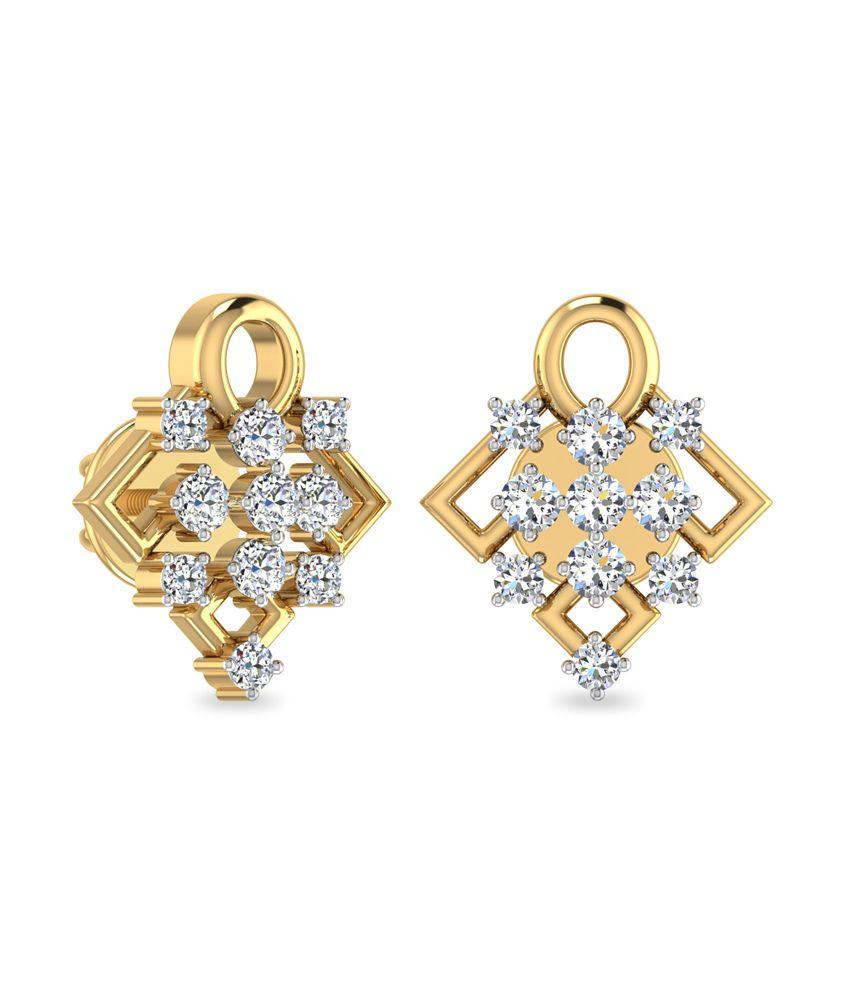 WearYourShine PC Jeweller 18KT Gold The Alamea Diamond Earrings