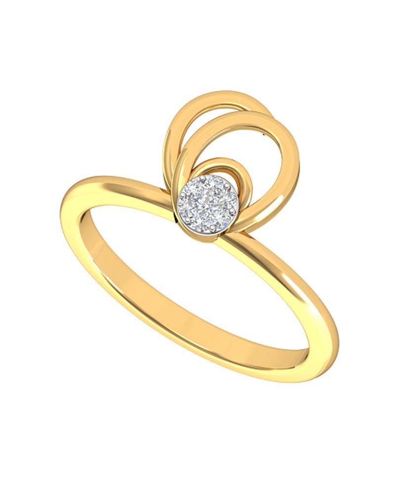 HSK IGI Certified Silver 0.06 Carat Diamond Illusion Ring For Women
