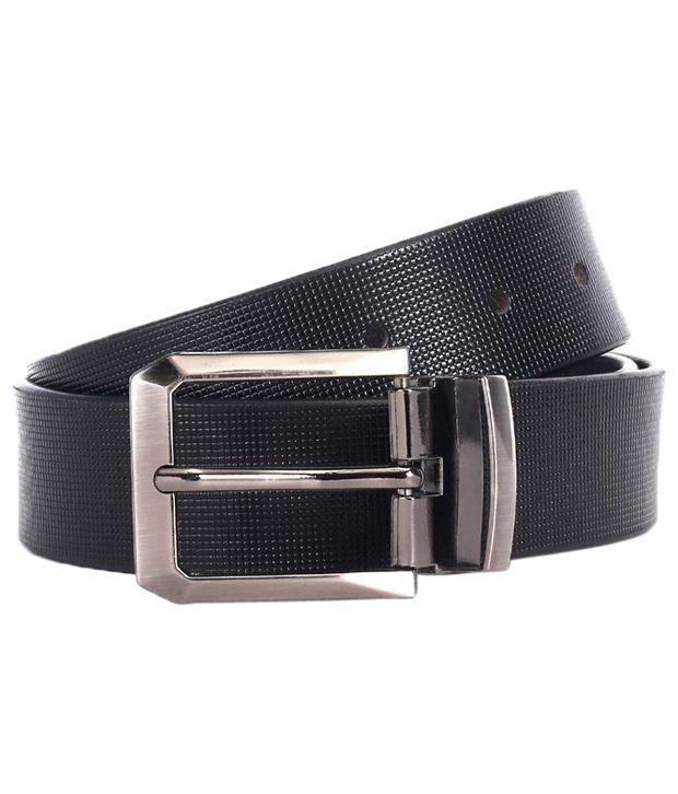 WildHorn Stylish Black Formal Belt For Men