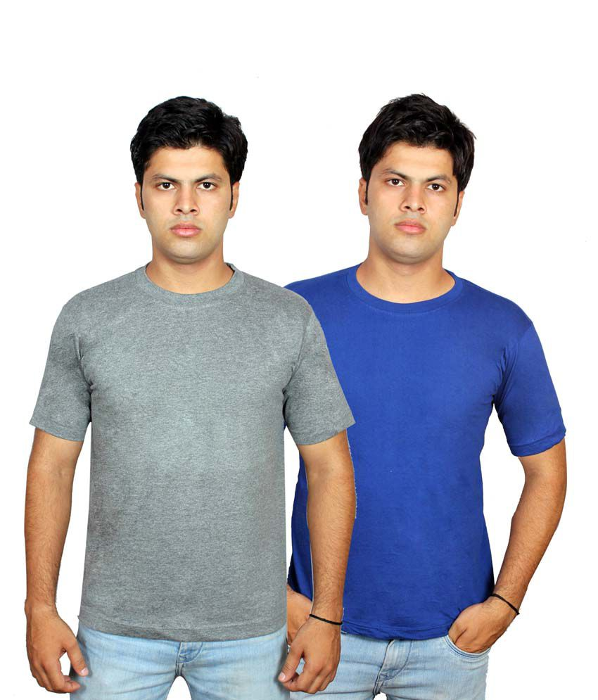 Fifo Multicolor Cotton Half Sleeve Round Neck T-shirt - Combo Of 2