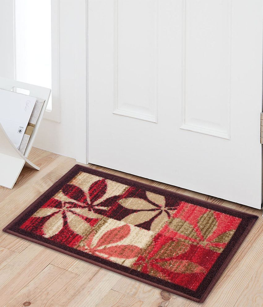 Fantasy Taba Nylon Red & Beige Floor Mat