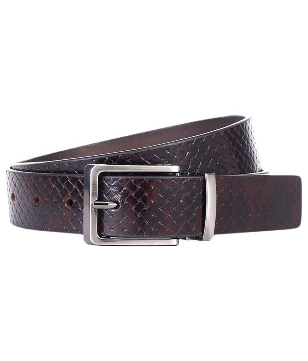 WildHorn Chocolate Brown Casual Leather Belt For Men