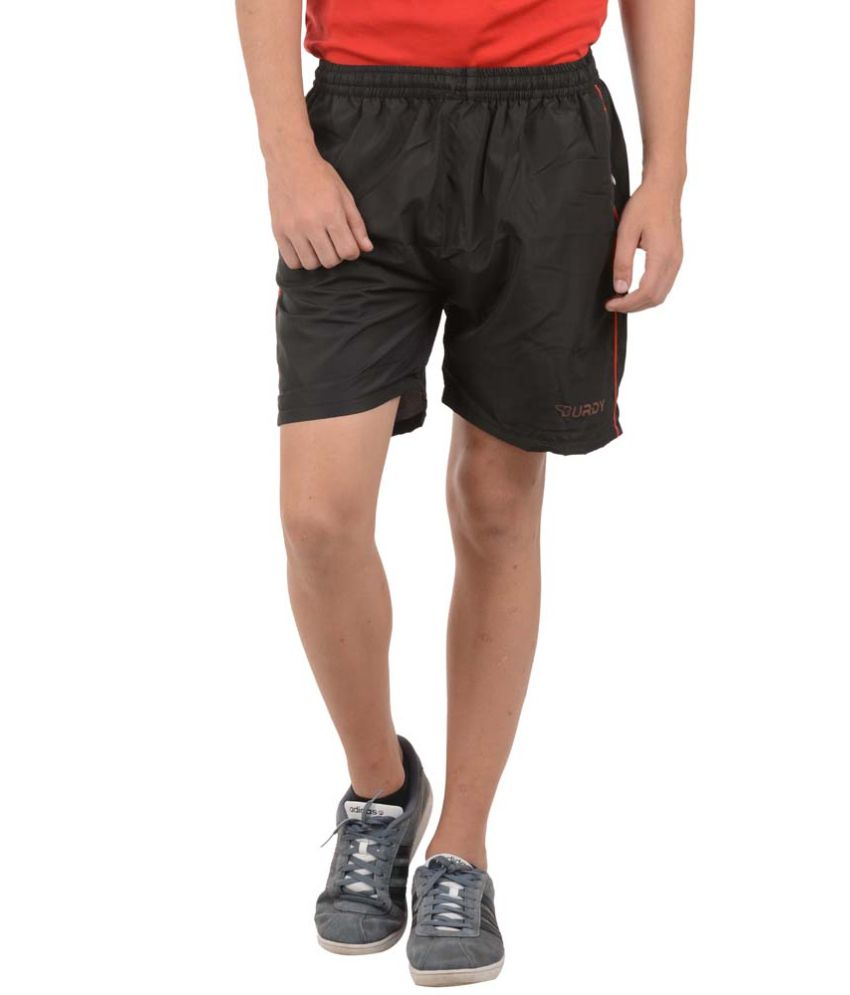 Burdy Black Polyester Short