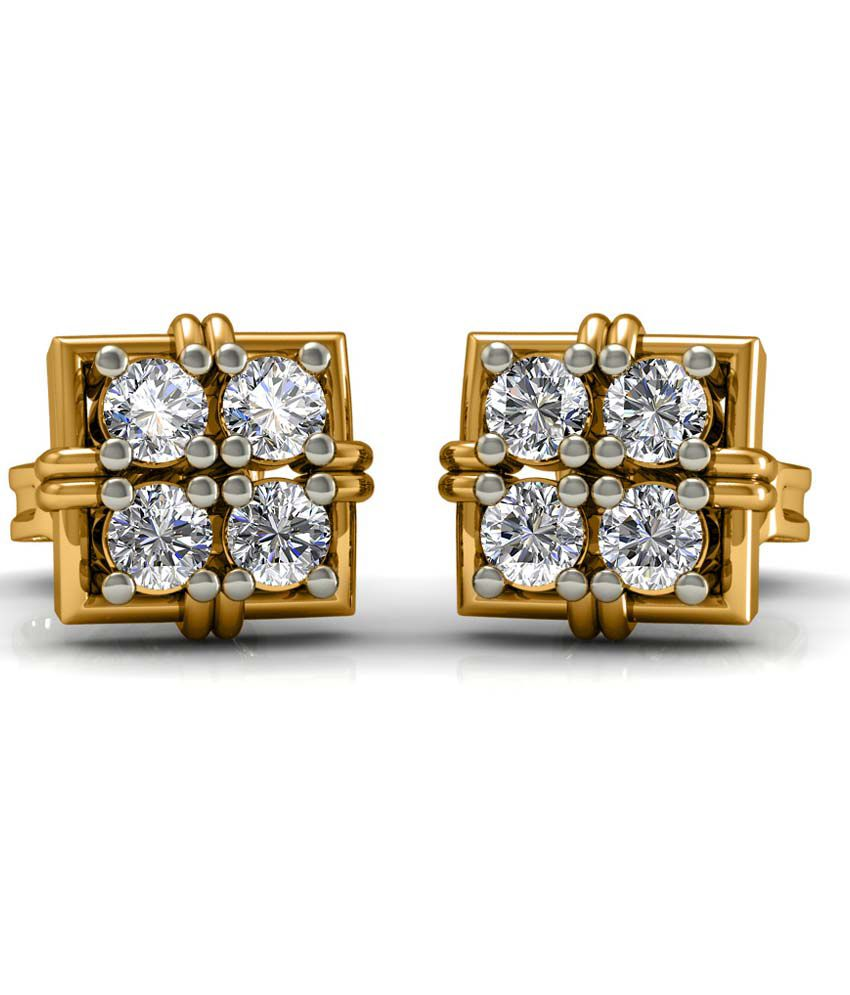Diaonj 14kt Gold & Diamond Studs Earrings