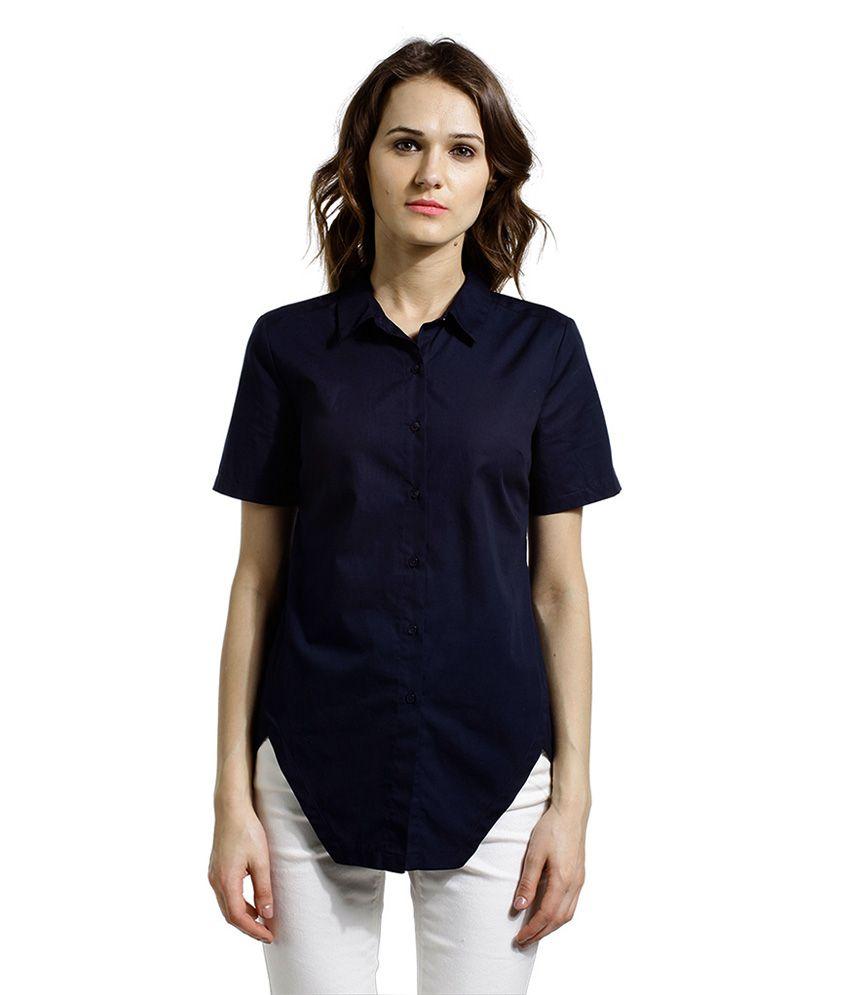 SbuyS Blue Cotton Shirts