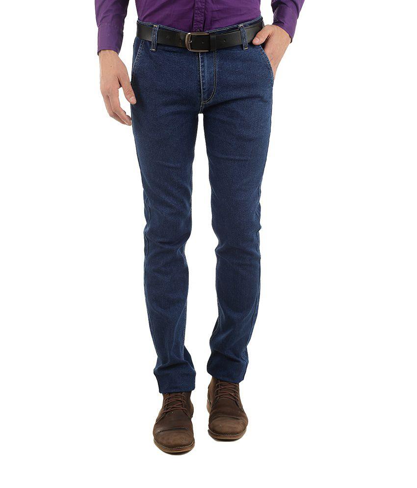 Western Texas 96 Blue Cotton Blend Regular Fit Jeans