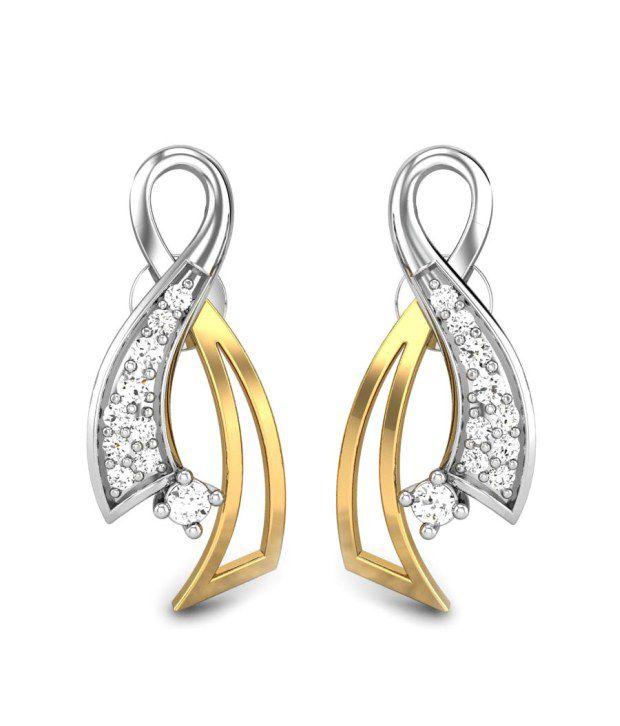 Candere Melisa Diamond Earring White Gold 18k