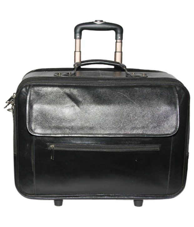 C Comfort Black Trolley Bag