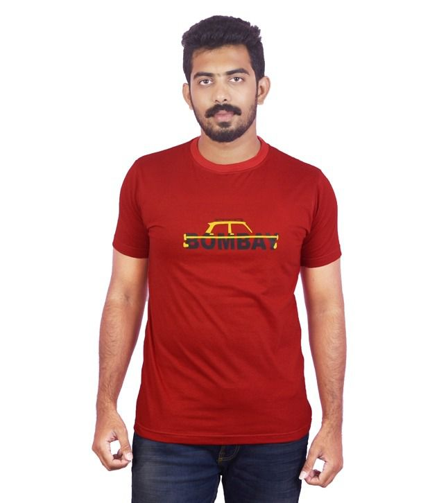 Dk Clues Red-bombay Graphic Tshirt
