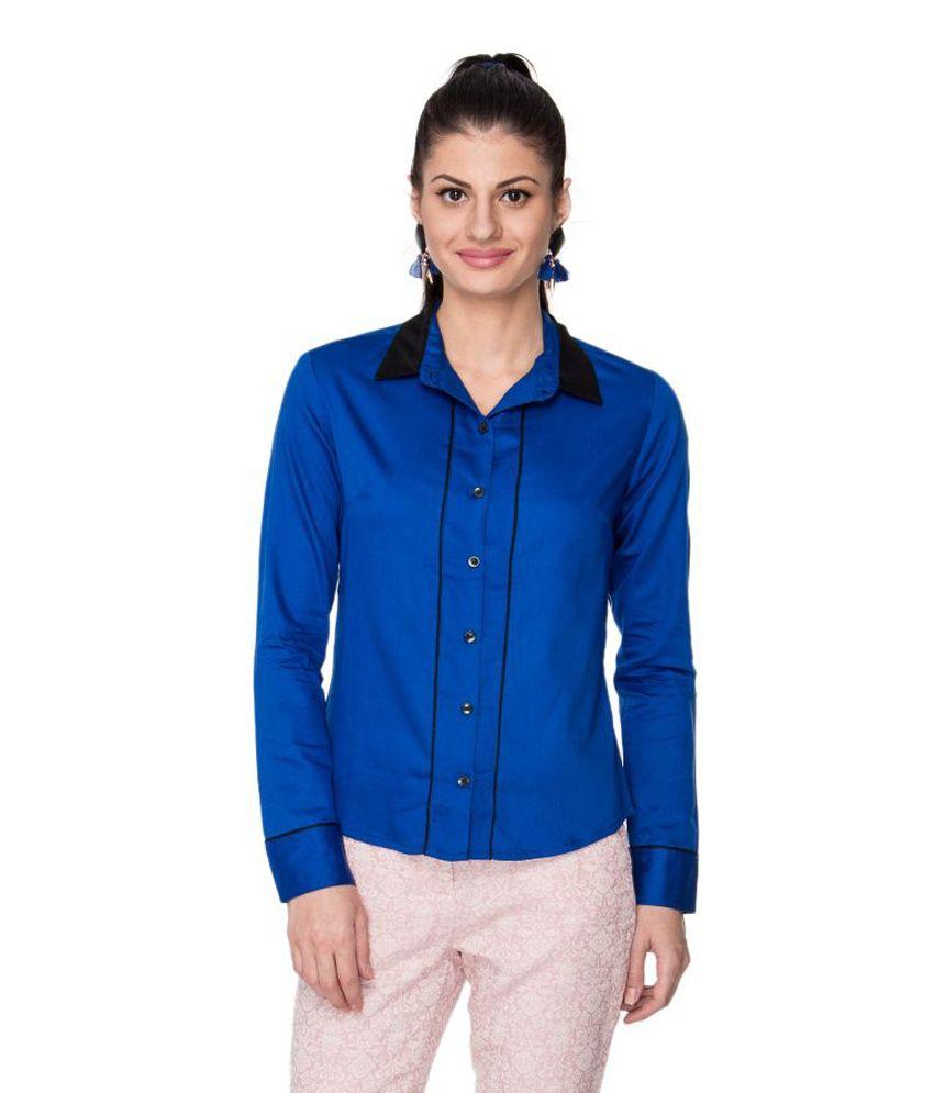 Buy Neburu Blue Cotton Shirts Online At Best Prices In