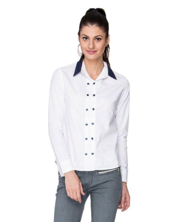 Neburu White Cotton Shirts