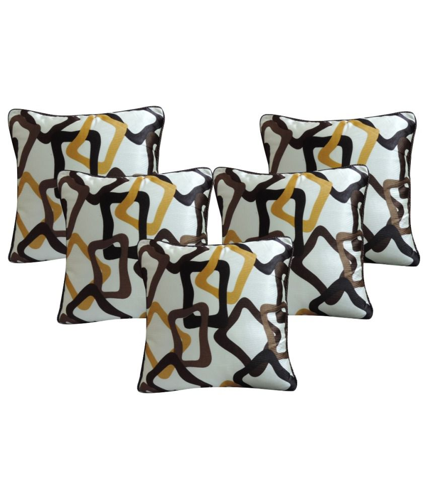 Aashiyana Polyester Cushion Covers Combo Of 10
