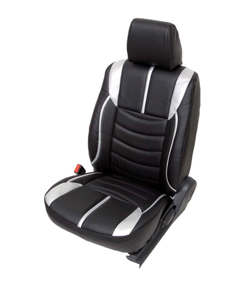 Club Class Black PU Leather Seat Cover For Maruti Alto K10