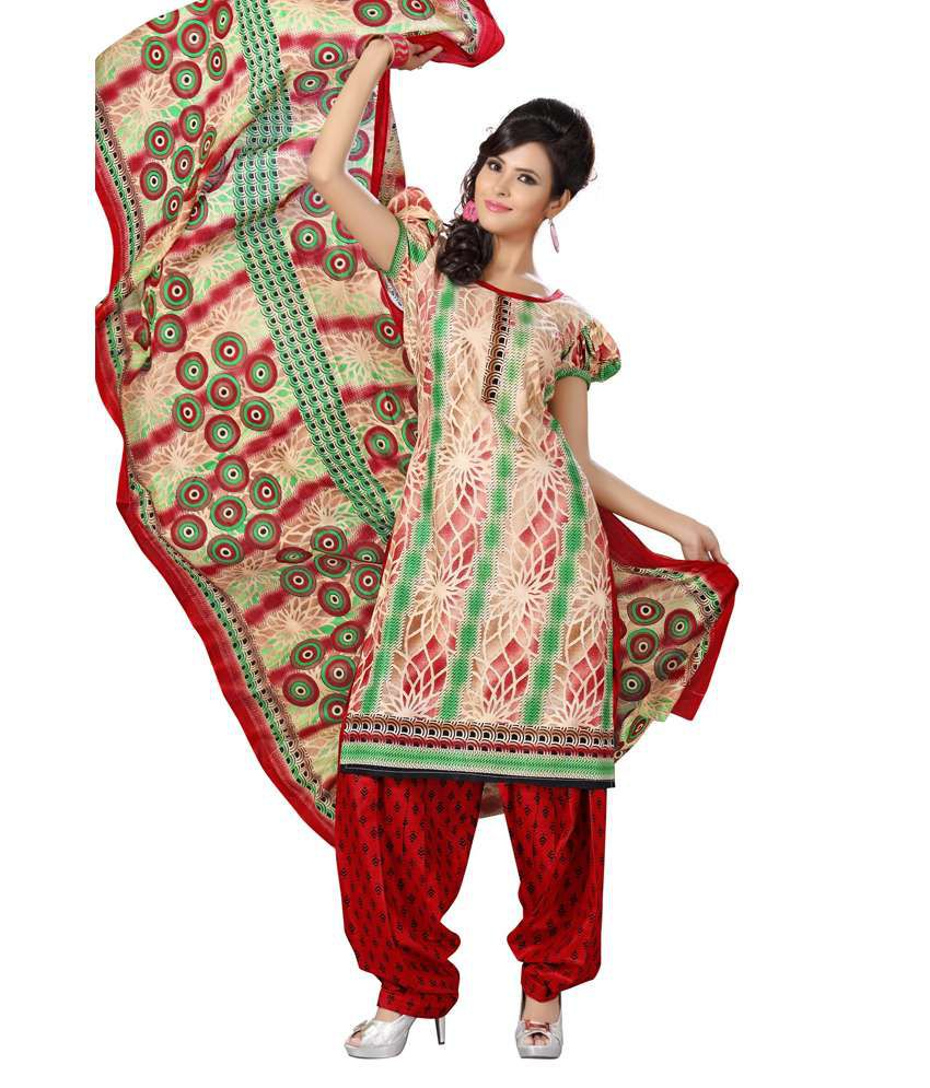 Disha Unstiched Cotton Printed Dress Material