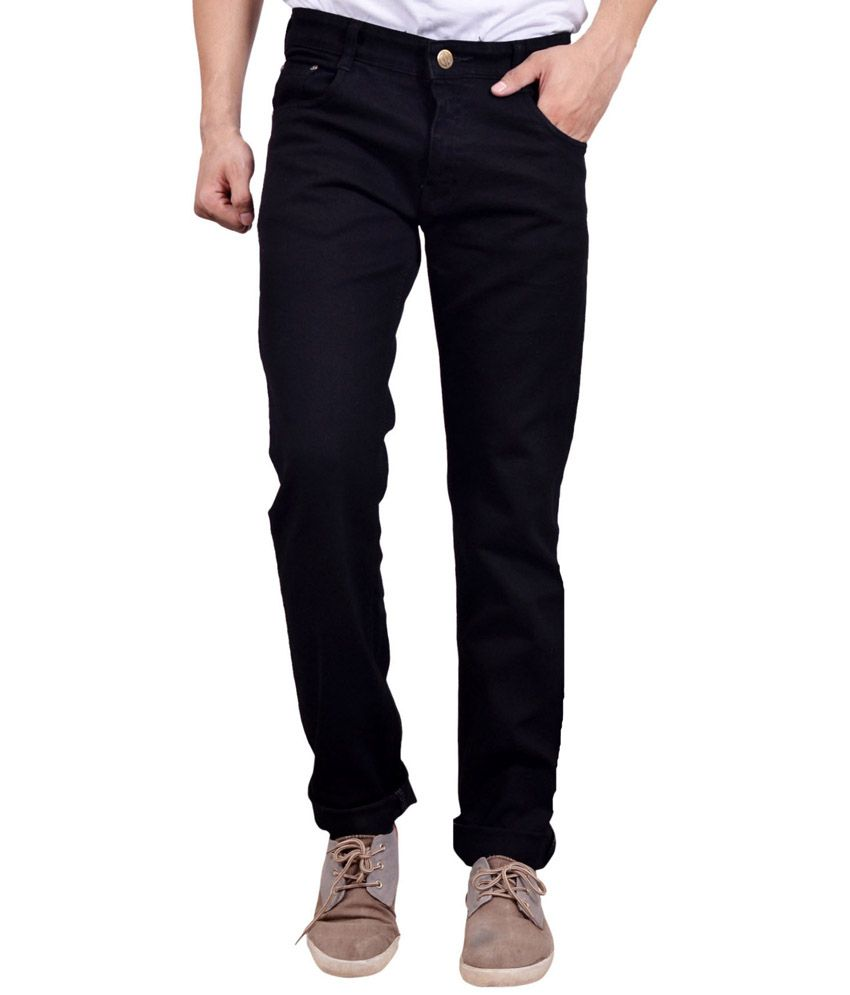 Studio Nexx Black Cotton Regular Fit Trendy Jeans