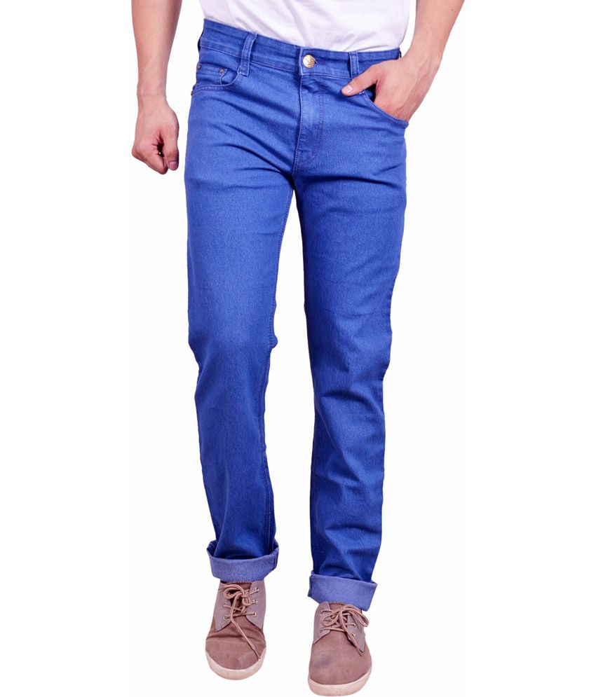 Studio Nexx Blue Cotton Regular Fit Jeans