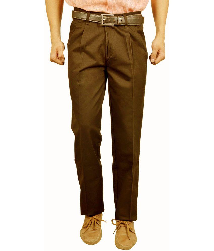 Studio Nexx Gold Cotton Regular Fit Men Trouser
