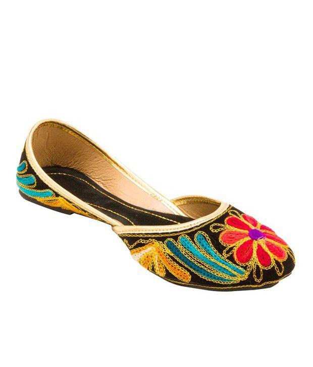 Forever Multicolour Velvet Party Wear Shoes