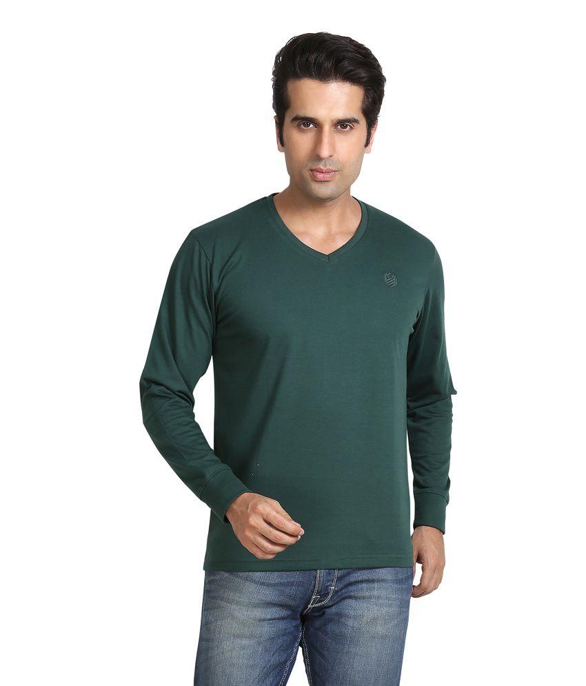 Galaxi Green Cotton T - Shirt