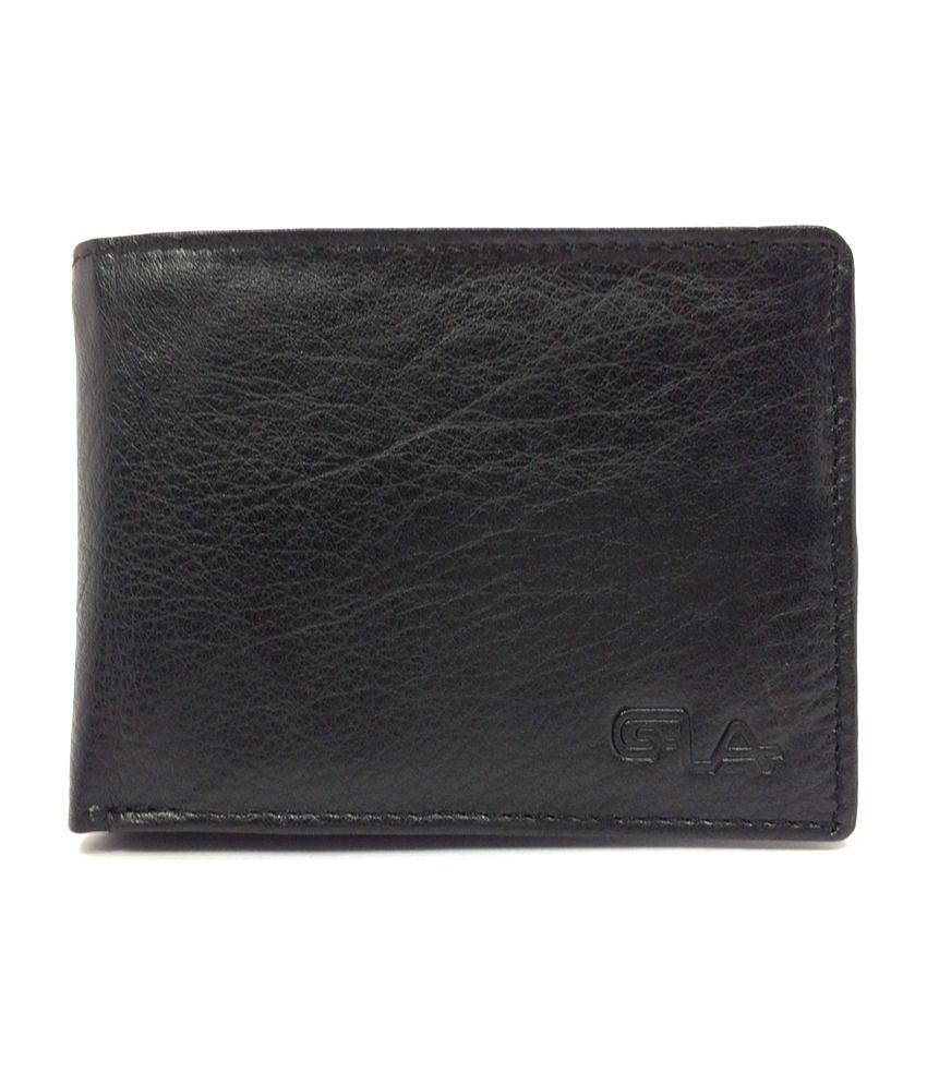 Goodwill Leather Art Black Leather Formal Wallet