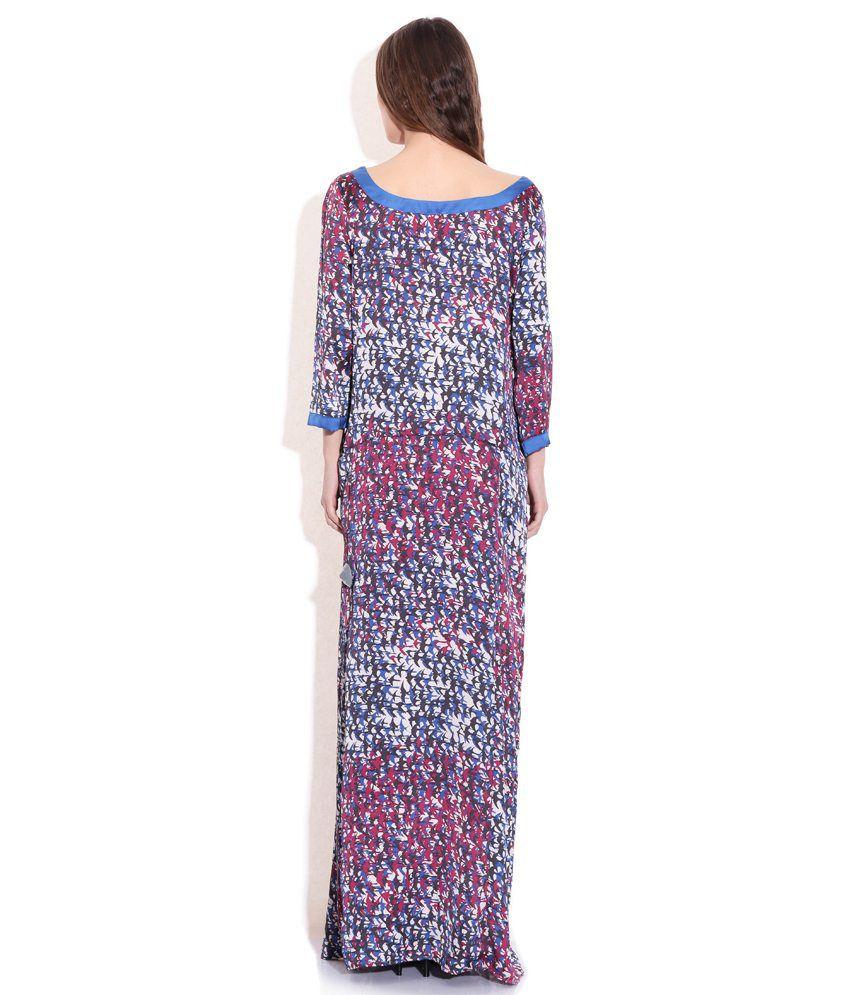 13e8c2b2ba Sisley Multi Color Printed Maxi Dress - Buy Sisley Multi Color ...