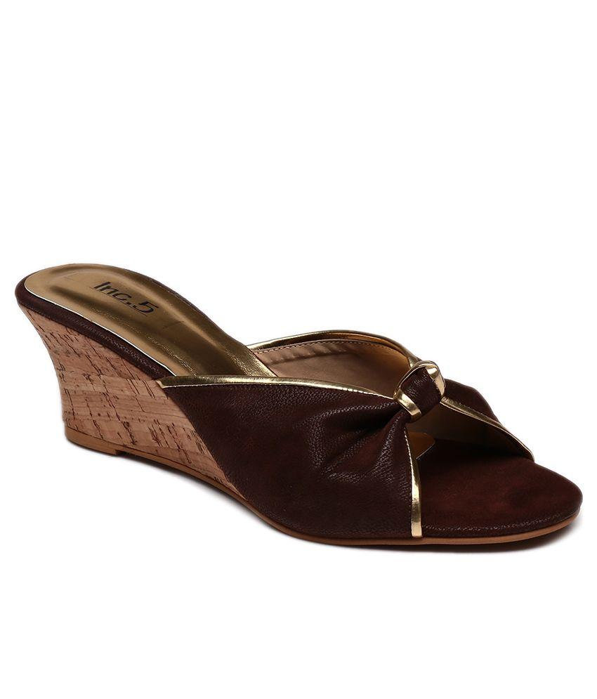 Inc.5 Brown Wedge Heeled Slip-On