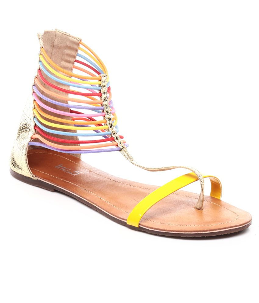Inc.5 Yellow Ankle Strap Flat