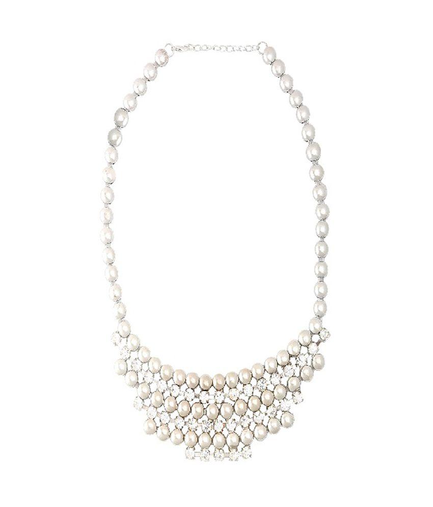 Ditya Silver Designer Necklace