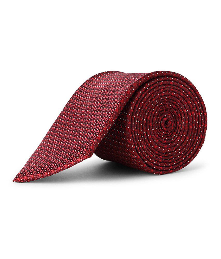 Maroon Patterned Casual Tie