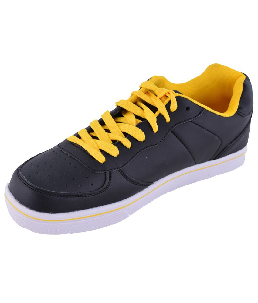 Men s Faux fancy sports shoes Black and Yellow Spor - Buy Men s Faux fancy  sports shoes Black and Yellow Spor Online at Best Prices in India on  Snapdeal e6437bd43