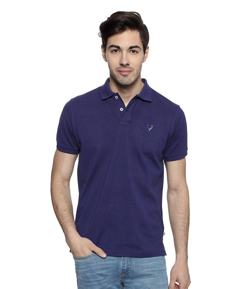 edd3cef5 Allen Solly Purple Solid Polo Neck Wimbledon T-shirt - Buy Allen Solly  Purple Solid Polo Neck Wimbledon T-shirt Online at Low Price - Snapdeal.com