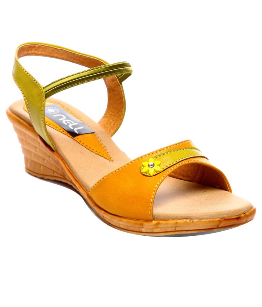 Nell Fancy Yellow Heeled Sandals