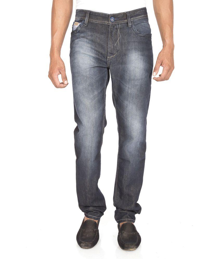 Raphael Jeans Blue Cotton Slim Fit Jeans