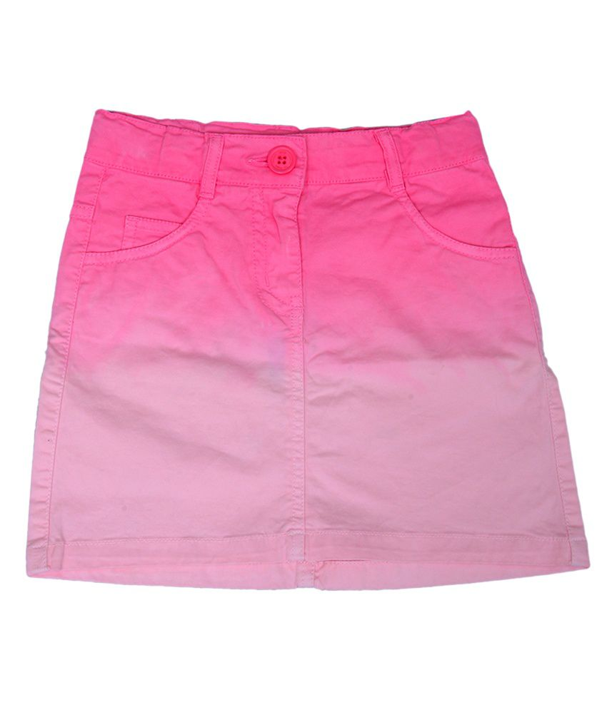 612League Pink Color Skirt For Kids