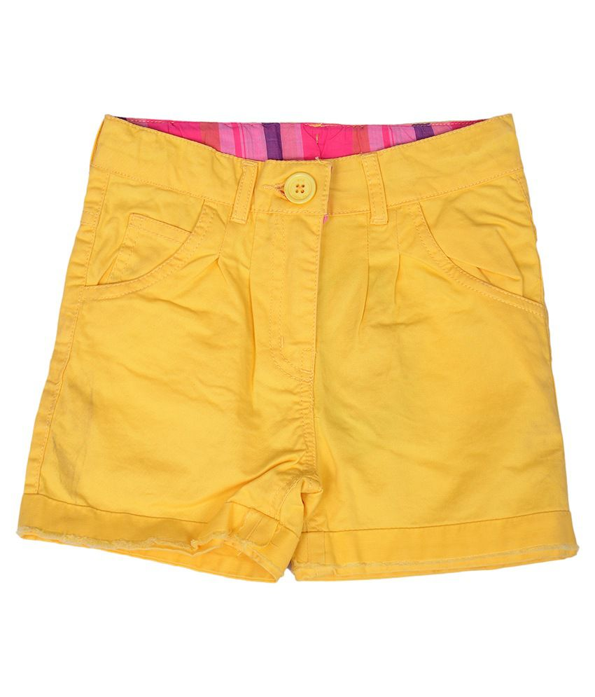 612League Yellow Color Shorts For Kids