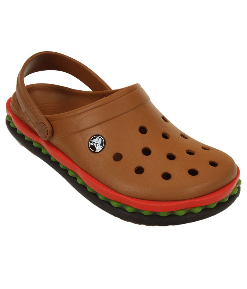 01ee83010 Crocs Roomy Fit Brown Crocband Hamburger Clog - Buy Crocs Roomy Fit Brown  Crocband Hamburger Clog Online at Best Prices in India on Snapdeal