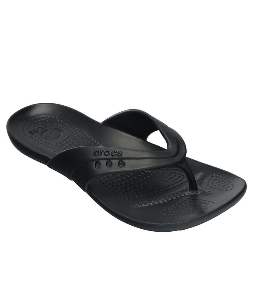Crocs Black Slippers & Flip Flops Relaxed Fit