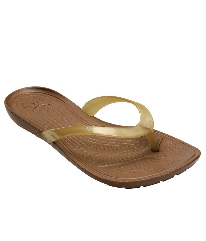 Crocs Standard Fit Croslite Brown Slippers