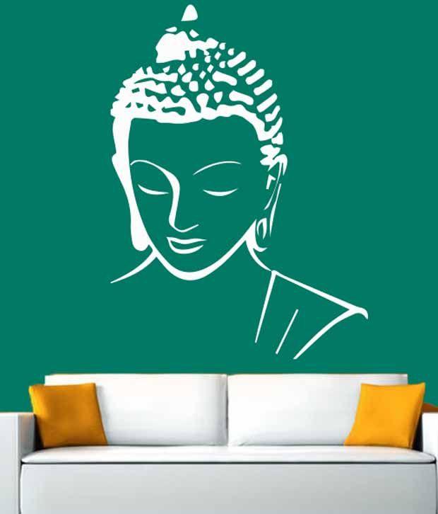 hoopoe decor meditating buddha wall stickers and decals - buy hoopoe