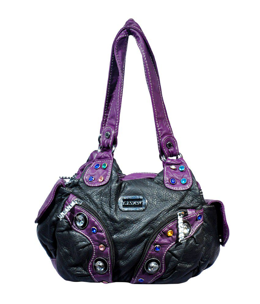 fcf4e46da4dc LISAN Black Leather Hand Bags - Buy LISAN Black Leather Hand Bags Online at Best  Prices in India on Snapdeal