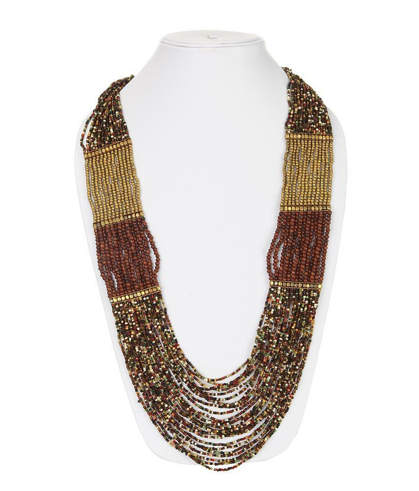 Dee Cee Multicolor Coloured Bead Contemporary Neckpiece
