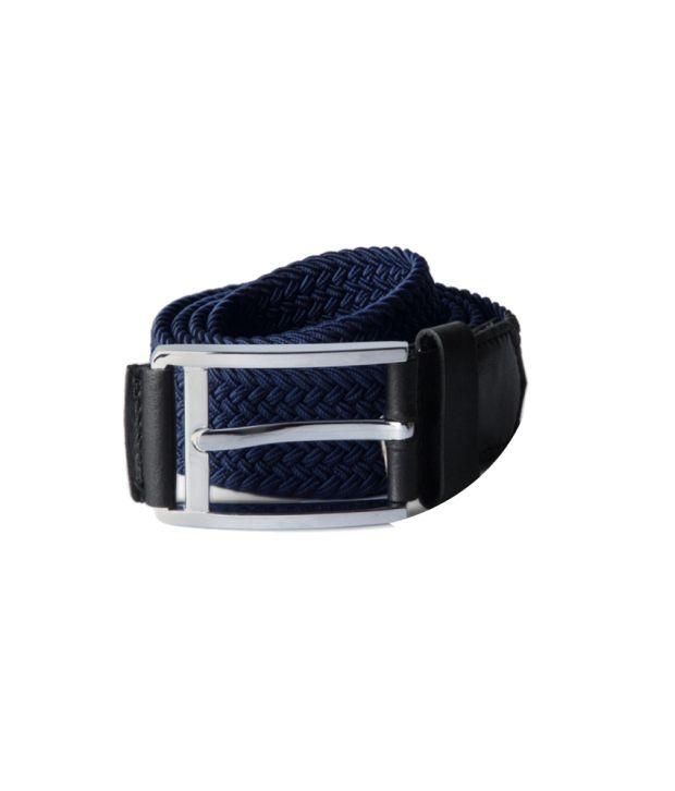 Louis Philippe Blue Non Leather Belt