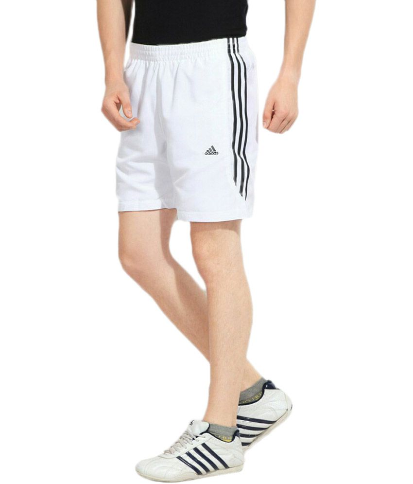 ... Adidas White Training Ess 3s Chelsea Shorts ...
