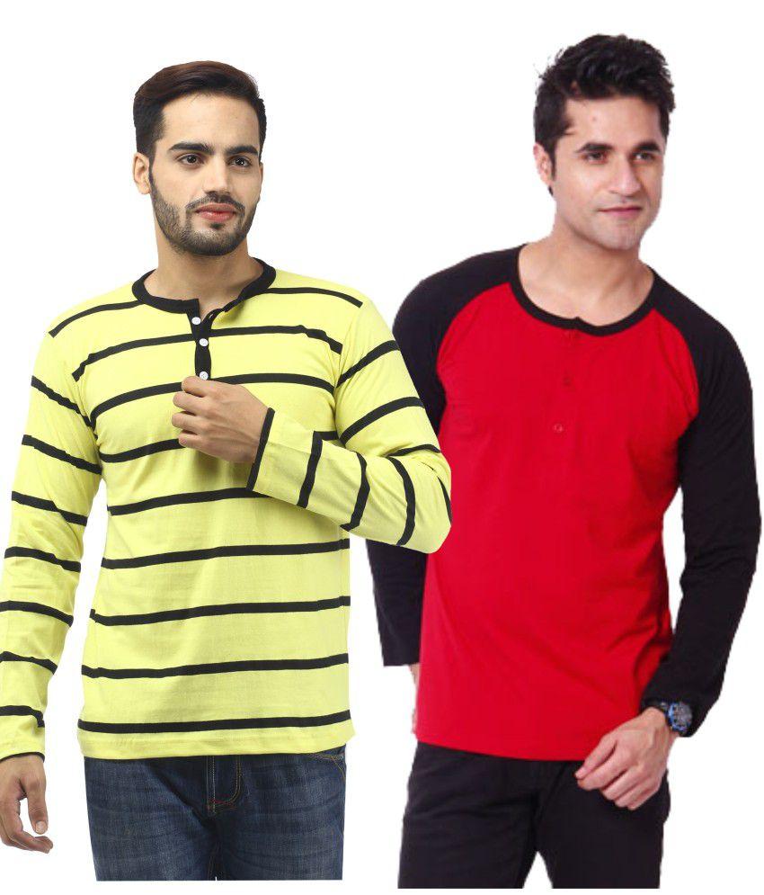 Leana Full Double Combo Cotton Henley T-shirt