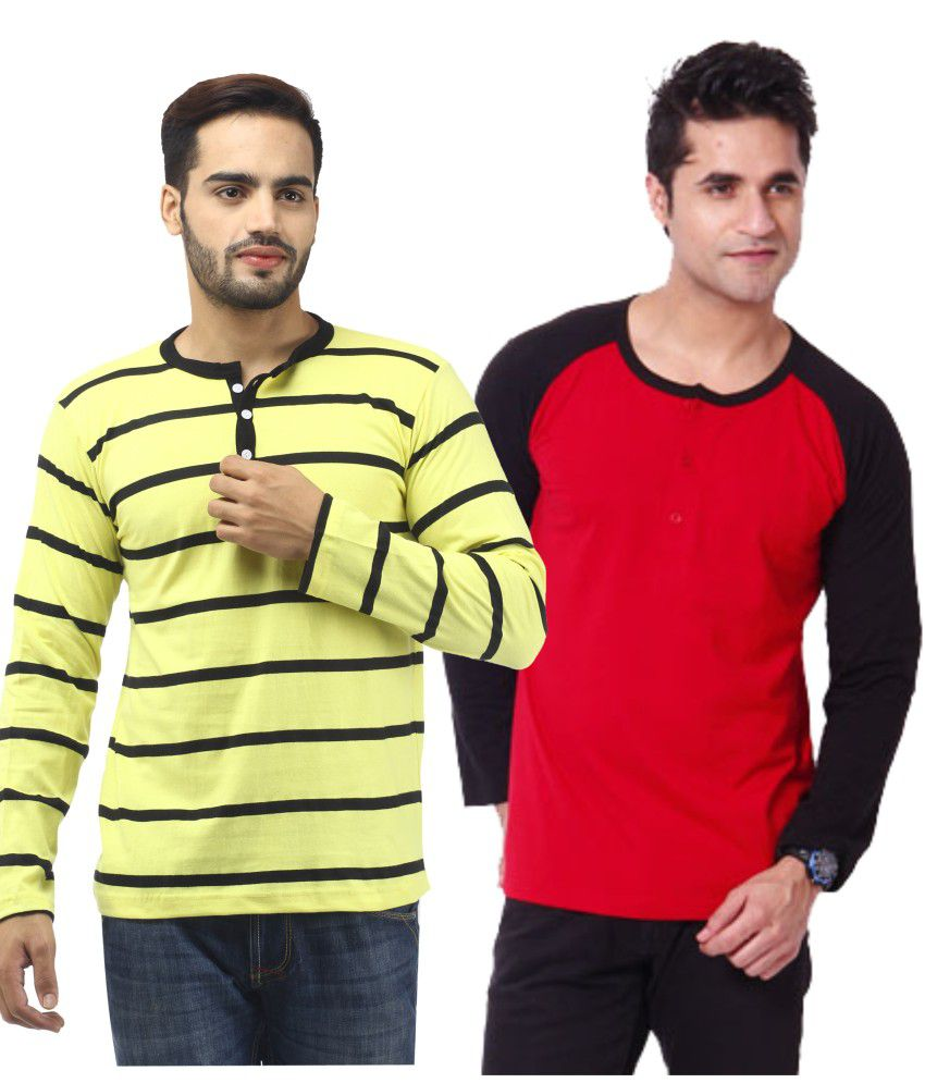 Leana Full Double Combo Cotton Henley T-shirt