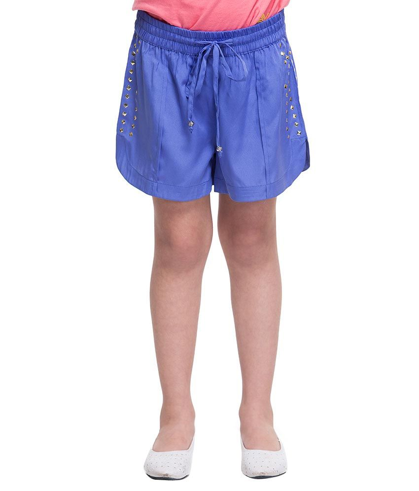 Oxolloxo Blue Synthetic Shorts
